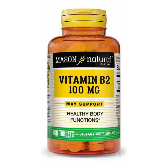 Mason Natural B-2 100 mg Tablets - 100 ct