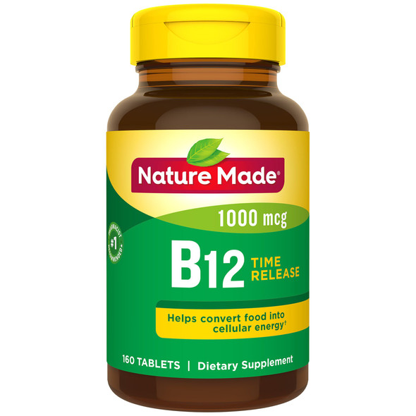 Nature Made B-12 1000 mcg, Timed Release - 160 Tablets