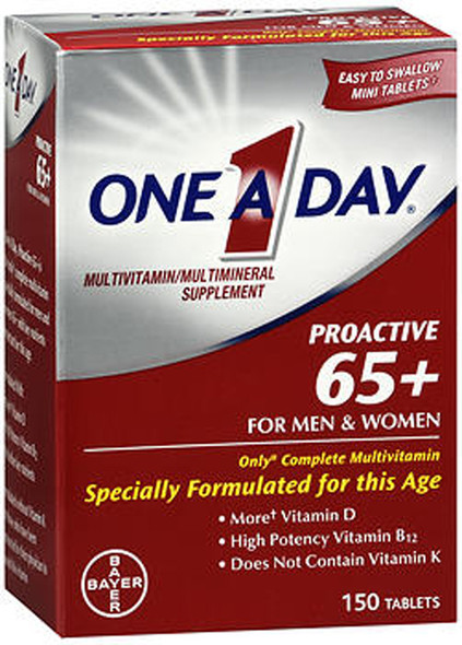 One-A-Day Proactive 65+ Tablets - 150 ct
