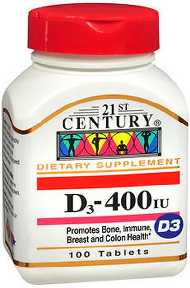 21st Century D3-400 - 100 Tablets