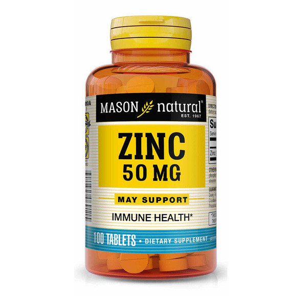 Mason Natural Zinc 50 mg Dietary Supplement - 100 Tablets