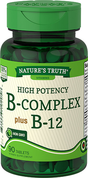 Nature's Truth High Potency B-Complex plus B-12 Tablets - 90 ct