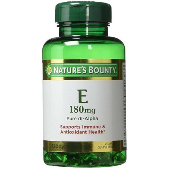Nature's Bounty E-400 IU Pure dl-Alpha - 120 Softgels