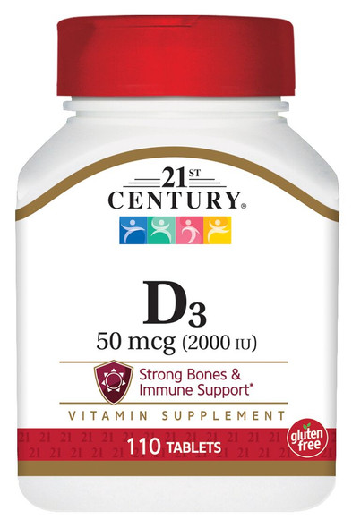 21st Century Vitamin D-2000 Tablets - 110 ct