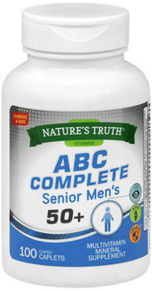 Nature's Truth ABC Complete Senior Men's 50+ - 100 Coated Caplets