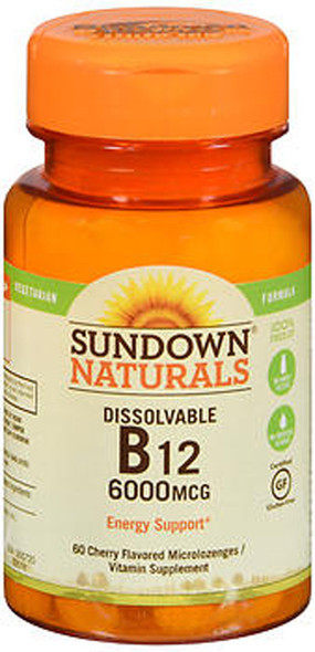 Sundown Naturals Vitamin B12 6,000 mcg - 60 Microlozenges