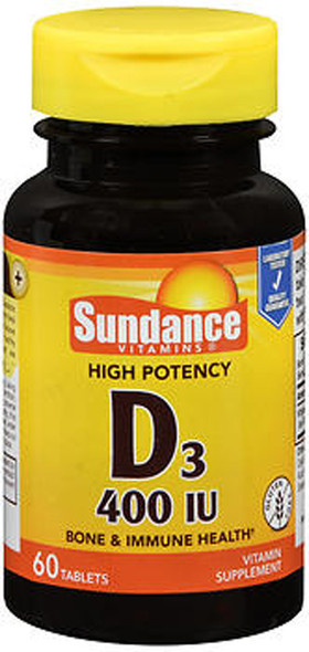 Sundance Vitamins High Potency D3 400 IU Vitamin Supplement - 60 Tablets