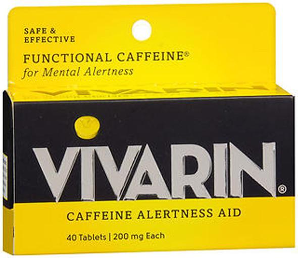 Vivarin, Caffeine Alertness Aid, 200mg, Tablets - 40 Tablets