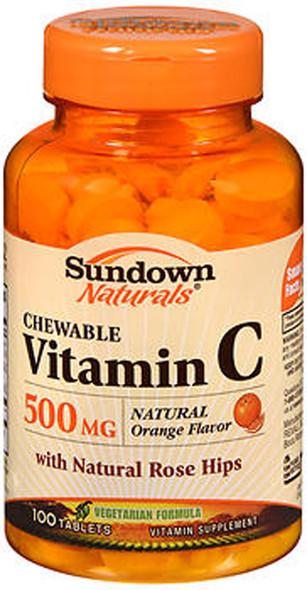 Sundown Naturals Chewable Vitamin C 500mg Tablets - 100 ct
