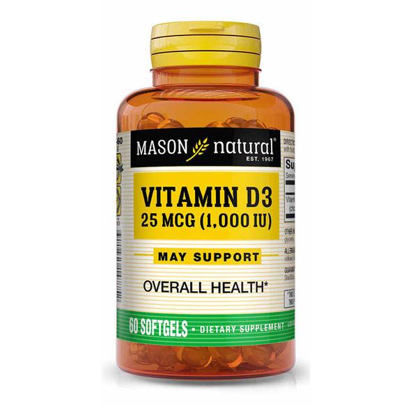 Mason Natural D1000 IU - 60 Softgels