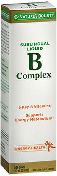Nature's Bounty Sublingual Liquid B Complex with B-12 - 2 oz