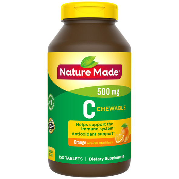 Nature Made Chewable C 500 mg -150 Tablets