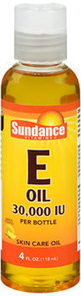 Sundance Vitamins Vitamin E Oil 30,000 IU Skin Care Oil Lemon Scented - 4 oz