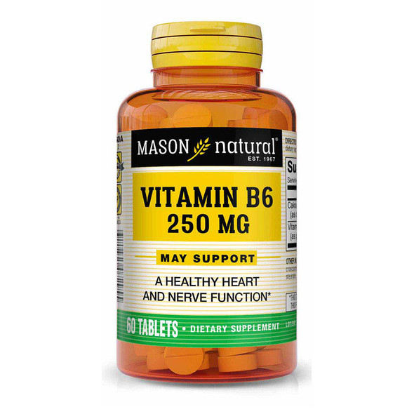 Mason Natural B-6 250 mg - 60 Tablets