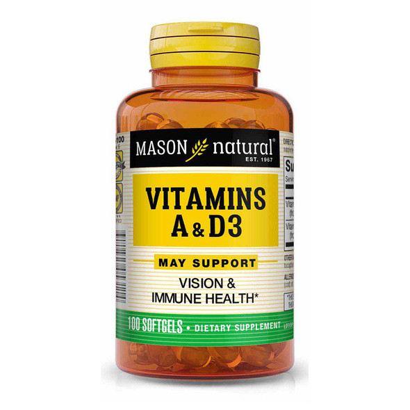 Mason Natural Vitamins A & D3 - 100 Softgels