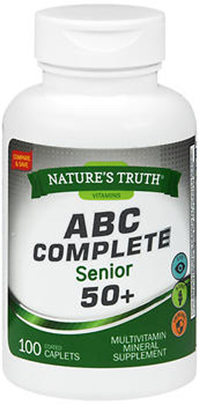 Nature's Truth ABC Complete Senior 50+ Multivitamin Mineral Supplement - 100 Coated Caplets