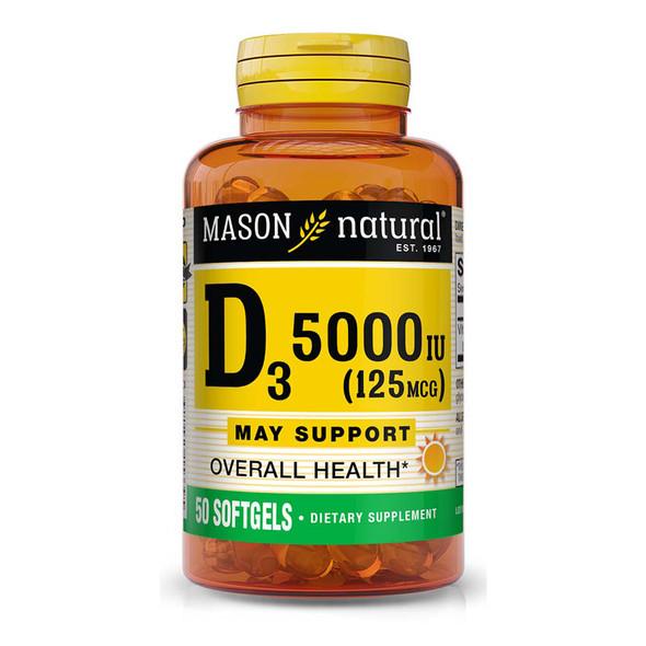 Mason Natural Vitamin D3 5000 IU Softgels - 50ct