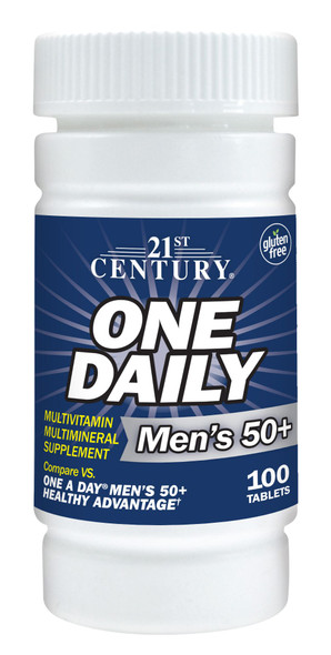 21st Century Men's 50+ One Daily Multivitamin Multimineral Supplement Tablets - 100 ct