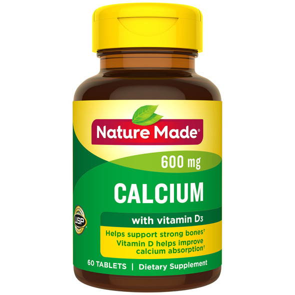 Nature Made Calcium 600 mg With Vitamin D Tablets - 60 ct