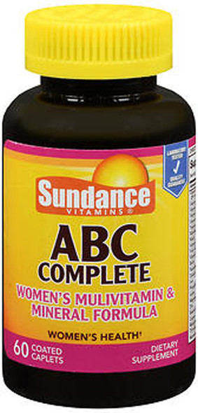 Sundance ABC Complete Women's Multivitamin & Mineral Formula - 60 Coated Caplets