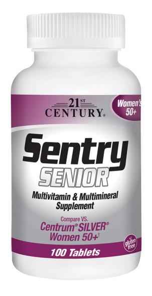 21st Century Sentry Senior Multivitamin & Multimineral Supplement Women's 50+ Tablets - 100 Tablets
