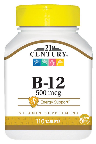 21st Century B-12 500 mcg Tablets - 110 Tablets