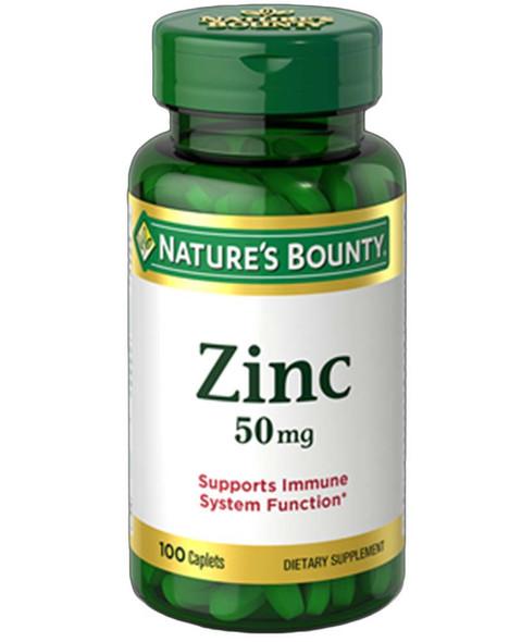 Nature's Bounty Zinc 50 mg - 100 Caplets