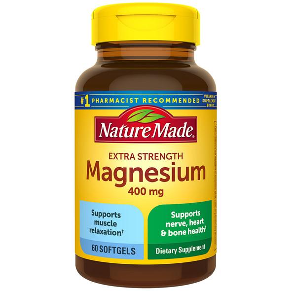 Nature Made Magnesium 400 mg Liquid Softgels High Potency - 60 ct
