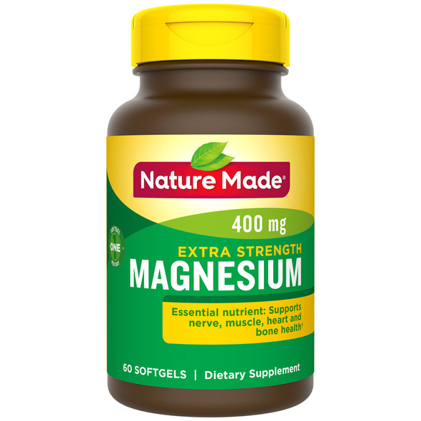Nature Made Magnesium 400 mg Liquid Softgels High Potency - 60 ct