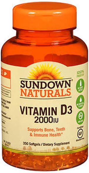 Sundown Naturals Vitamin D3 2000 IU Softgels - 350 ct
