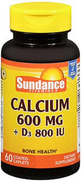 Sundance Vitamins Calcium 600 mg + D3 800 IU - 60 Caplets