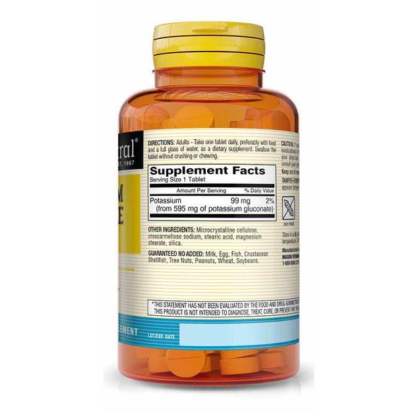 Mason Natural Potassium Gluconate 595 mg - 100 Tablets