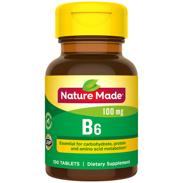 Nature Made Vitamin B-6 100 mg - 100 Tablets