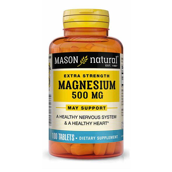 Mason Natural Magnesium 500 mg Extra Strength - 100 Tablets