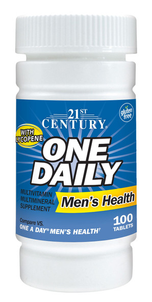 21st Century Men's Health One Daily Multivitamin Multimineral Supplement Tablets - 100 ct