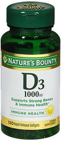 Nature's Bounty D3-1000 IU - 100 Softgels