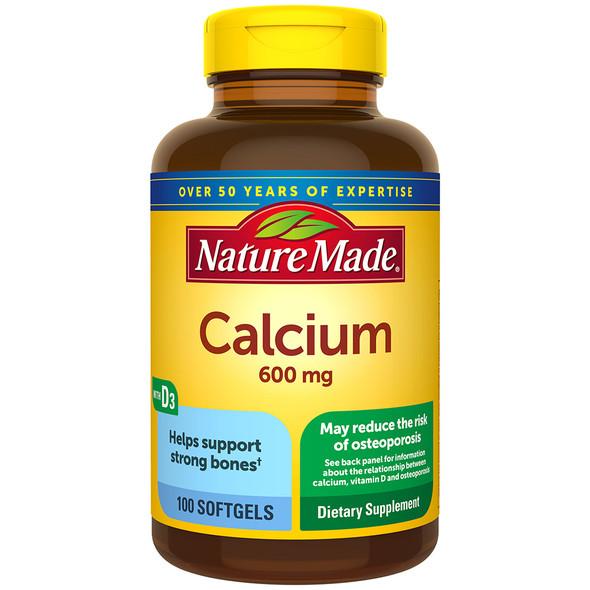 Nature Made Calcium 600 mg - 100 Softgels