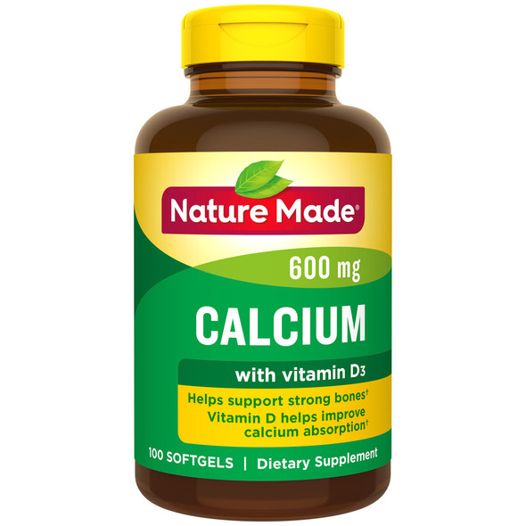 Nature Made Calcium 600 mg - 100 Softgels