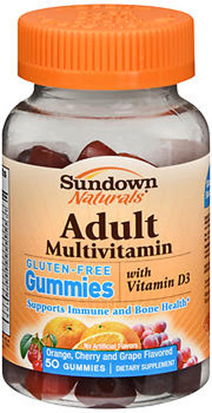 Sundown Naturals Adult Multivitamin Dietary Supplement Gummies Assorted Fruit Flavors - 50 ct