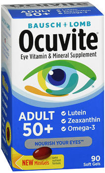 Bausch + Lomb Ocuvite Adult 50+ Eye Vitamin & Mineral Supplement - 90 Softgels