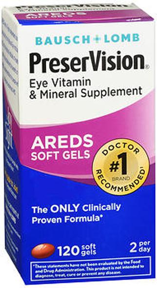 PreserVision Eye Vitamin & Mineral Supplement  - 120 Gelcaps