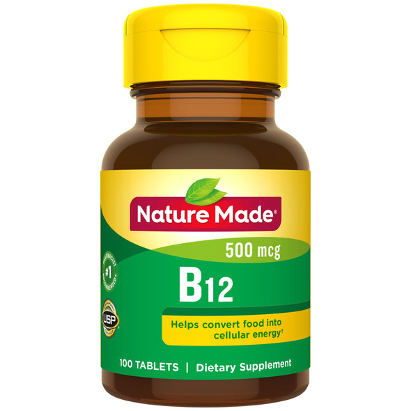 Nature Made Vitamin B-12 500 mcg Tablets - 100 ct