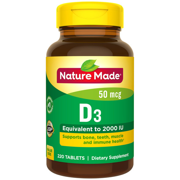 Nature Made D3 2000 IU - 220 Tablets
