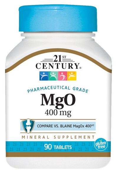 21st Century MgO 400 mg Tablets - 90 ct