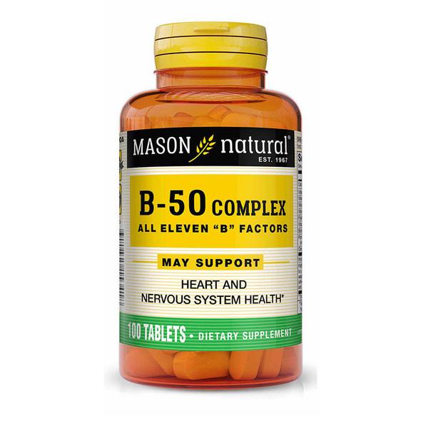 Mason Natural Super B-50 Complex - 100 Tablets