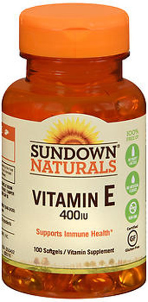 Sundown Naturals Vitamin E 400 IU Softgels - 100 ct