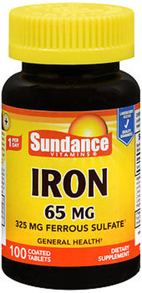 Sundance Vitamins Iron 65 mg - 100 Tablets