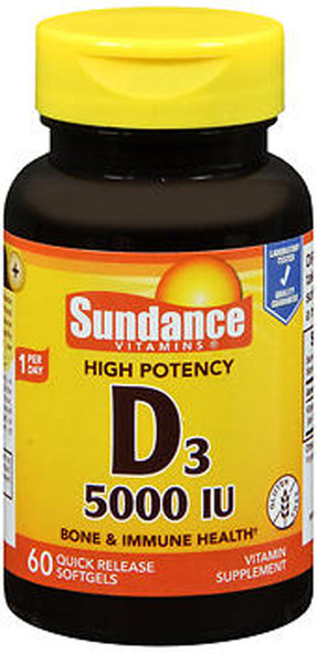 Sundance Vitamins Vitamin D3 High Potency - 60 Softgels