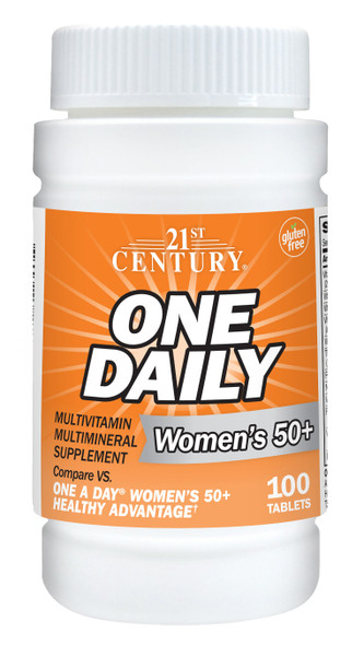 21st Century Women's 50+ One Daily Multivitamin Multimineral Supplement - 100 ct
