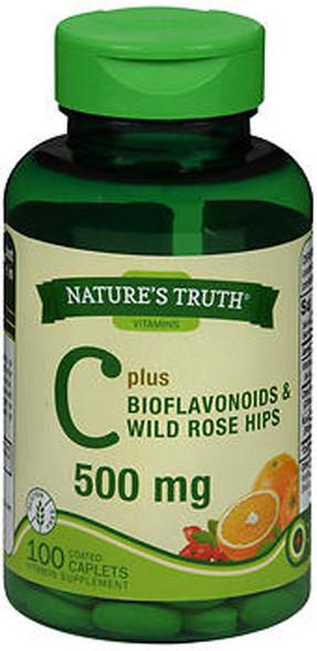 Nature's Truth C 500 mg Plus Bioflavonoids & Wild Rose Hips Vitamin Supplement - 100 Caplets